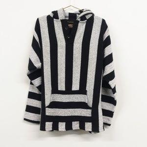 Retrofit 2 Button Pullover Baja Hoodie Sweater XL